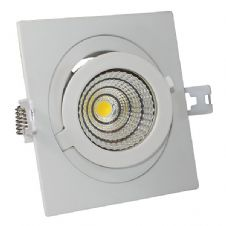 12W COB Downlight Square Adjustable